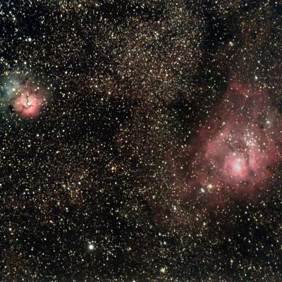Nebulosa Laguna e Nebulosa Trifida